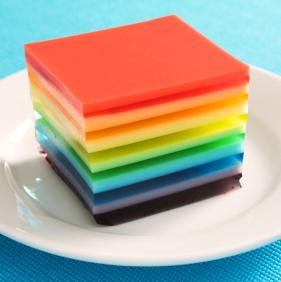 arcoiris gelatina