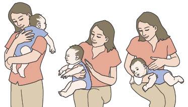 como quitar el aire del estomago de un bebe