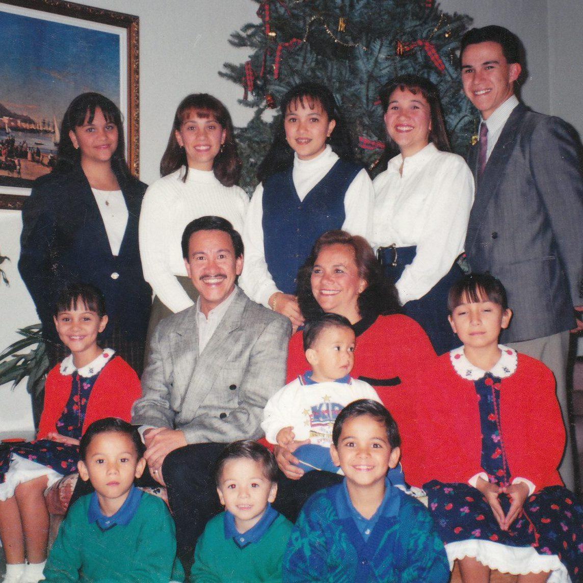 """Esta es """"mi banda"""": 11 hijos, todos de un mismo matrimonio, todos únicos, todos distintos, como los colores del arcoíris."""