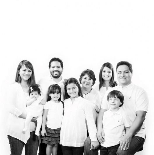 En la Navidad del 2012 regalamos a la familia una sesión de fotos, aprovechando que no vivimos en el mismo país y que cuesta coincidir.