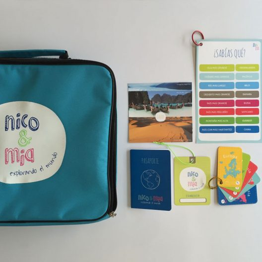 La maleta de viajero de Nico y Mía para coleccionar todos los países.