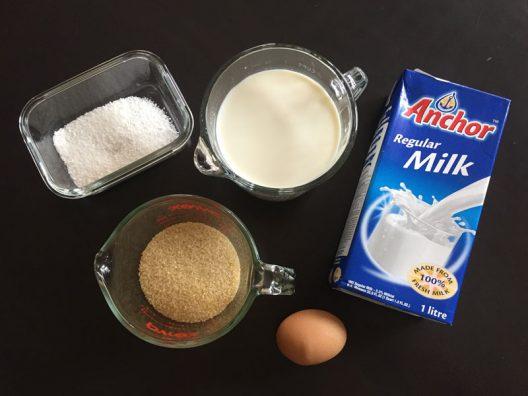 Los ingredientes clave para la receta de la tapioca.